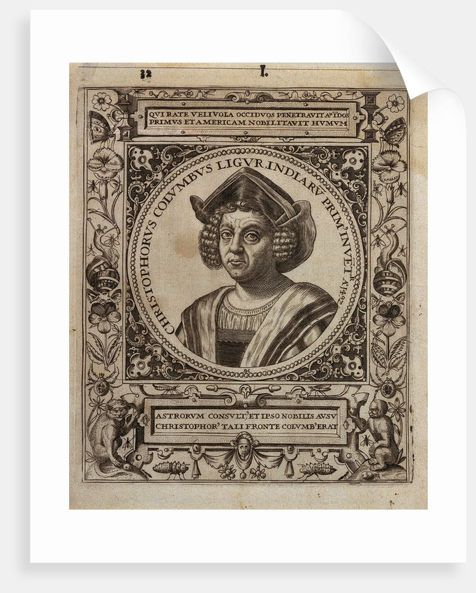 Christopher Columbus (1451-1506) by Johannus Theodorus de Bry
