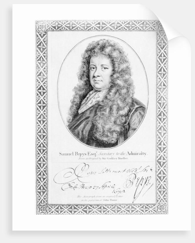 Samuel Pepys by Godfrey Kneller