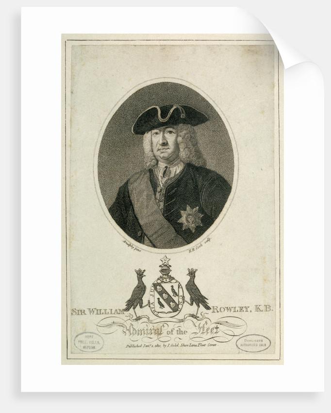 Sir William Rowley, K.B. Admiral of the Fleet by Arnulphy