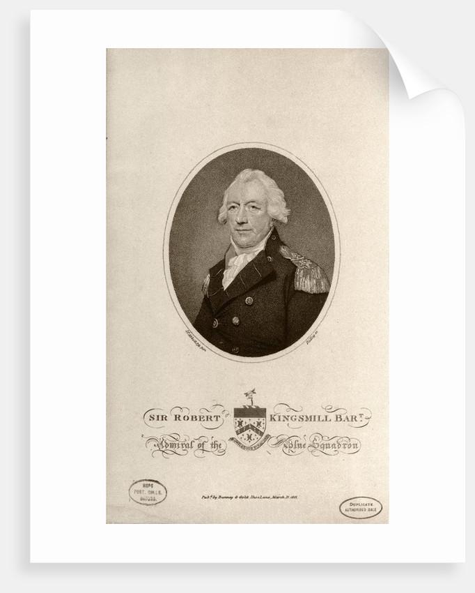 Sir Robert Kingsmill Bart Admiral of the Blue Squadron by Lemuel Francis Abbott