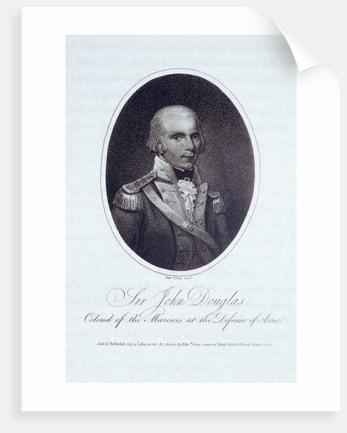 Sir John Douglas, Colonel of the Marines at the Defence of Acre by Edward Orme