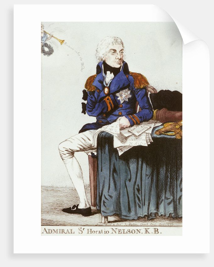 Admiral Sr Horatio Nelson. K.B. by Thomas Dighton