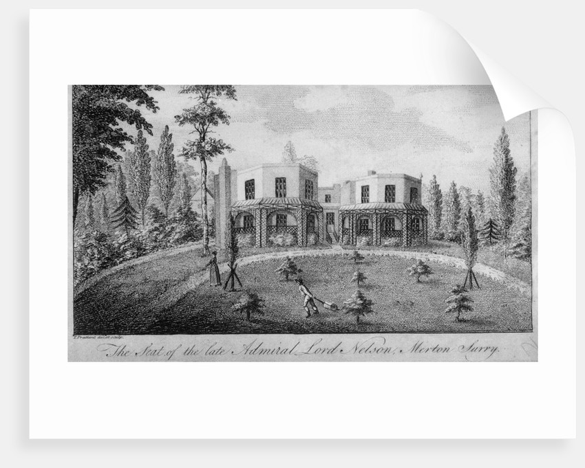 The seat of the late Admiral Lord Nelson, Merton Surry by T. Prattent