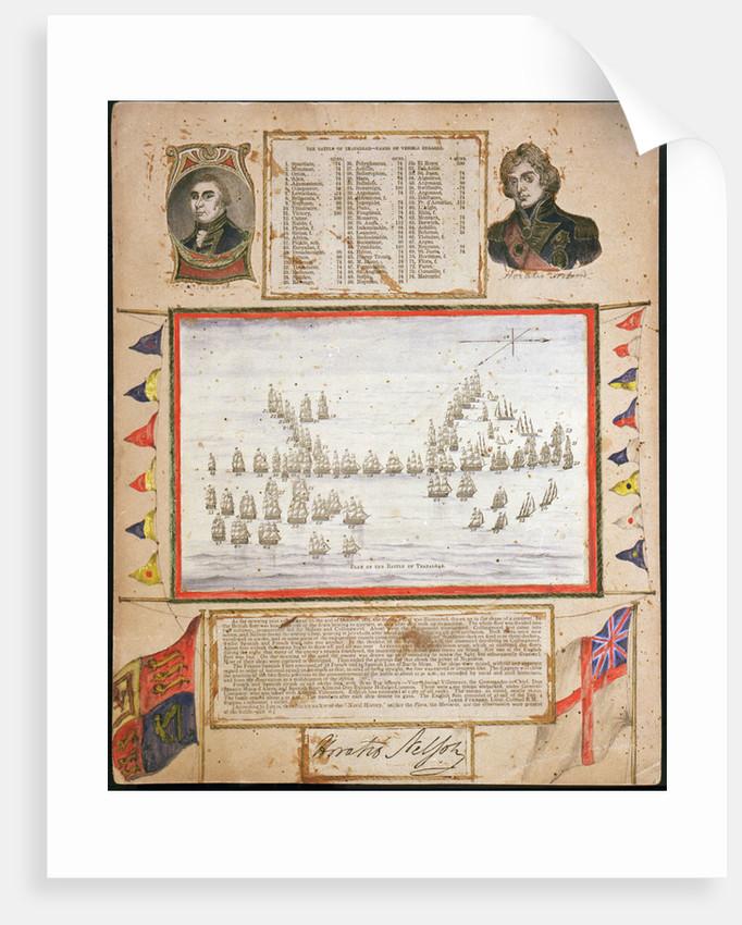 Plan of the Battle of Trafalgar by unknown
