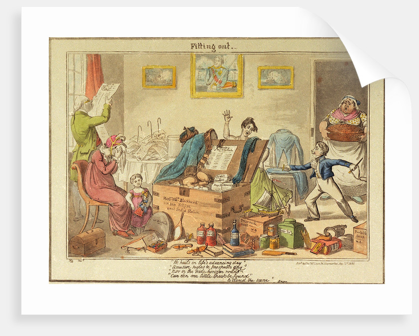 Fitting out Master William Blockhead by George Cruikshank