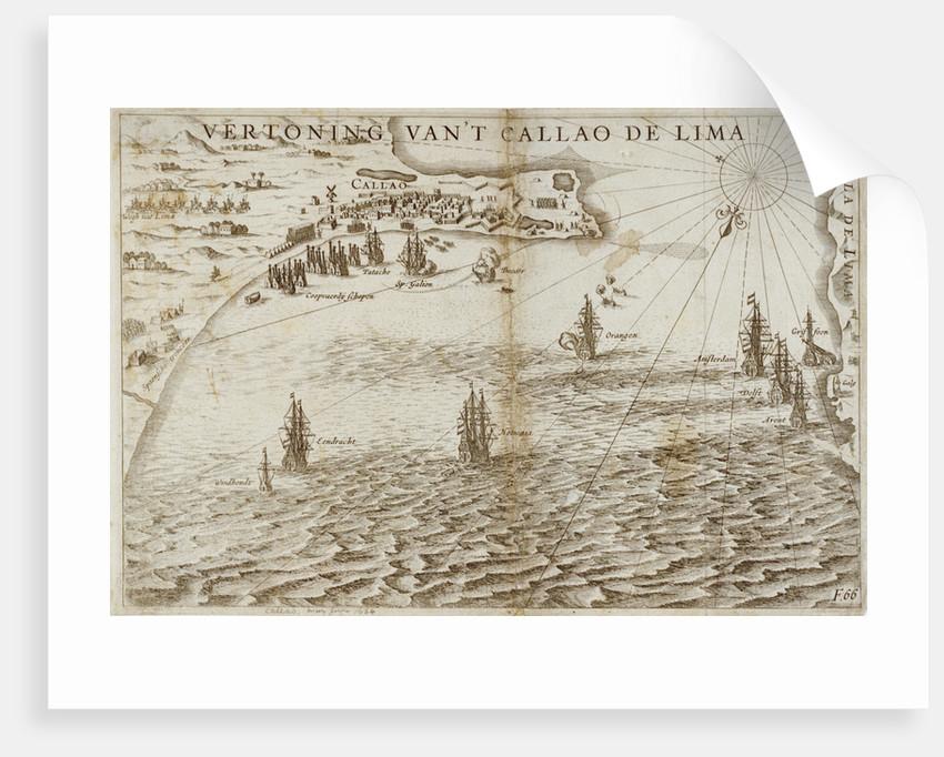 View of Callao near Lima by J. Pietersz