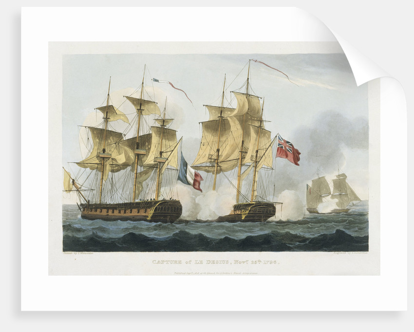 Capture of Le Desius November 25 1796 by Thomas Whitcombe