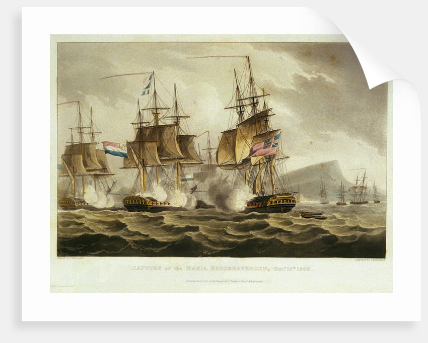 Capture of the Maria Riggersbergen, 18 October 1806 by Thomas Whitcombe