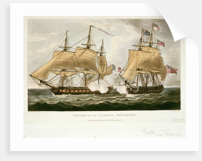 Capture of 'La Clorinde', 26 February 1814 by Thomas Whitcombe