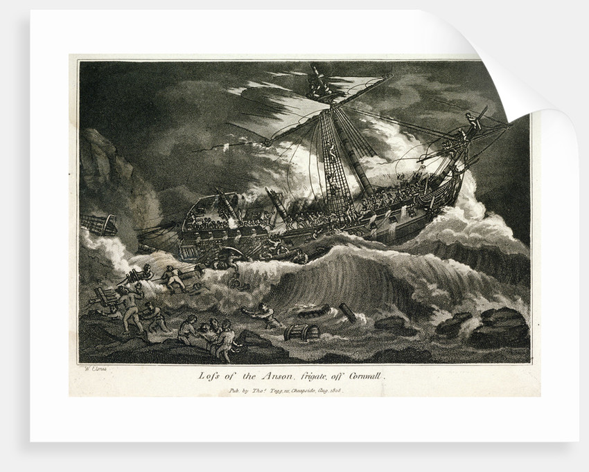 Loss of the Anson frigate, off Cornwall by William Elmes