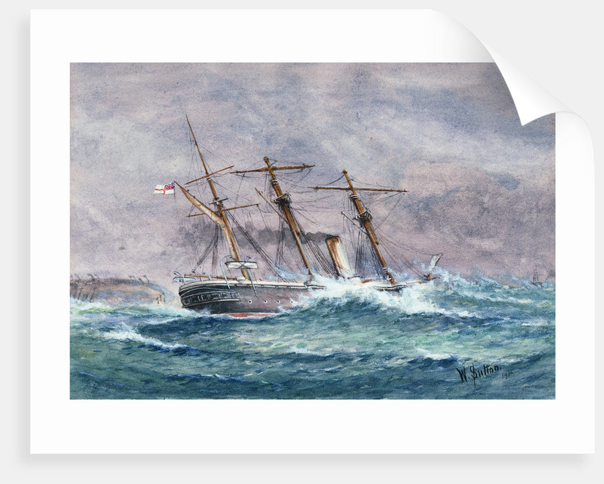 Escape of HMS 'Calliope', Samoa by W. Sutton