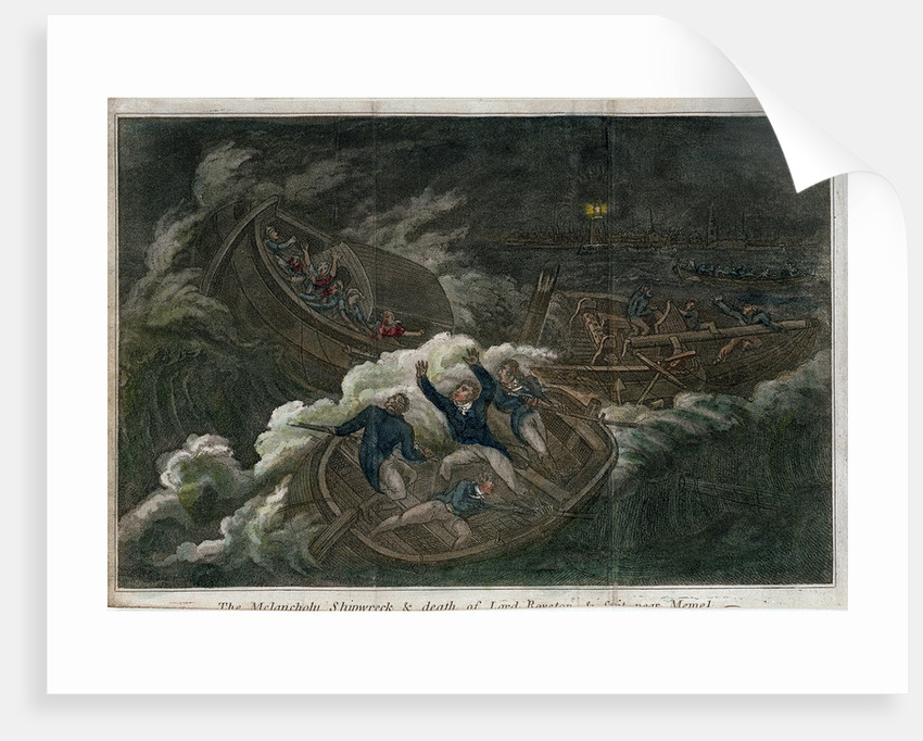 The 'Melancholy' shipwreck & death of Lord Royston by unknown