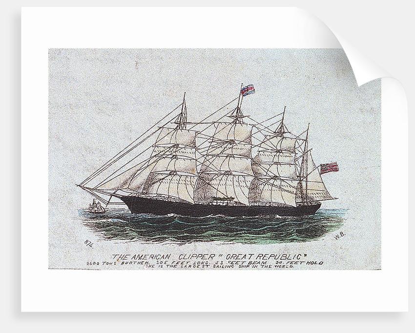 The American clipper 'Great Republic' by W. B.