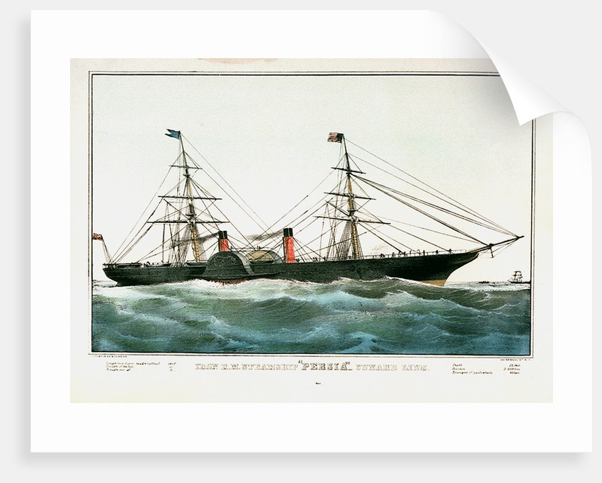 Iron R.M. Steamship 'Persia' - Cunard Line by N. Currier