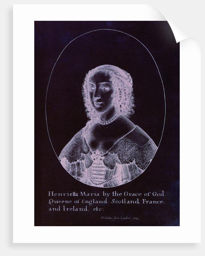 Queen Henrietta Maria by Wenceslaus Hollar