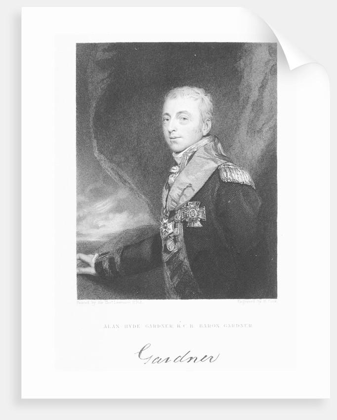 Alan-Hyde Gardner, K.C.B. Baron Gardner by Thomas Lawrence