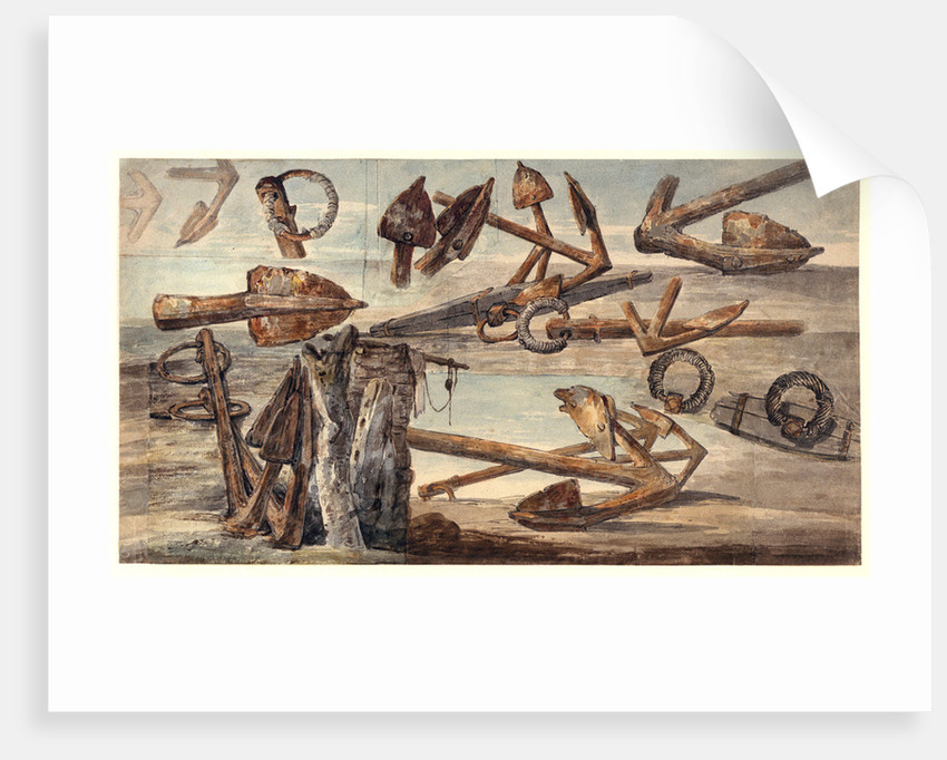 Rusted Kedge anchors by William Payne