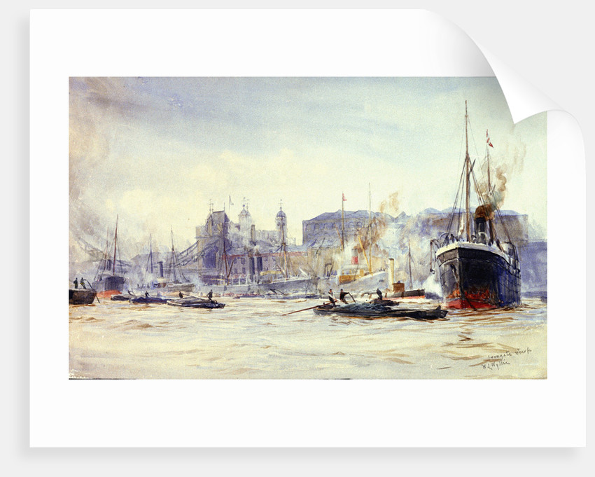 Irongate wharf by William Lionel Wyllie