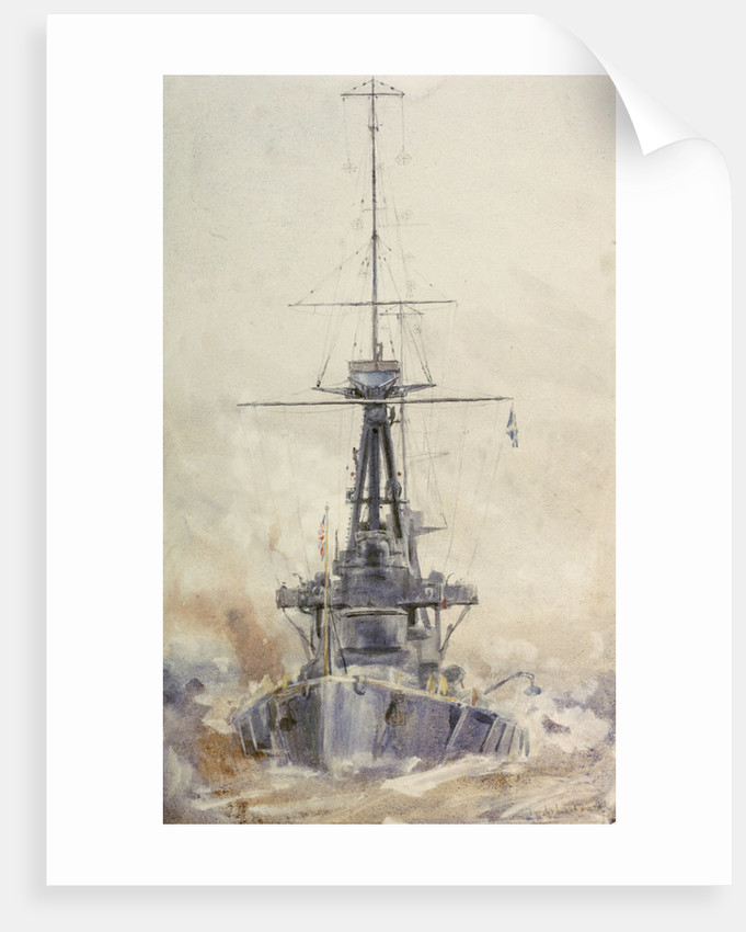 HMS 'Indefatigable' by William Lionel Wyllie