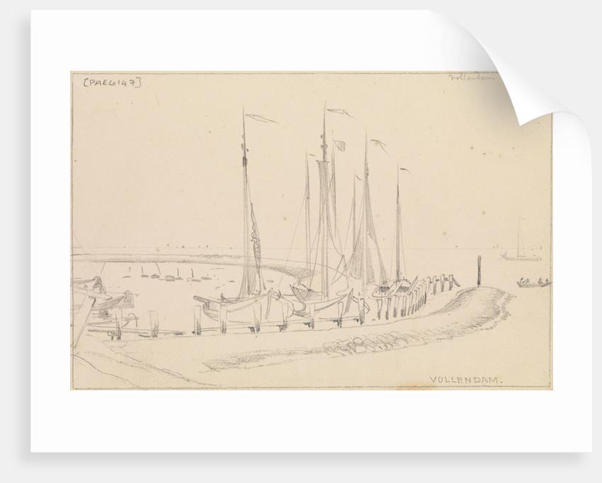 Vollendam harbour looking seaward by Edward William Cooke