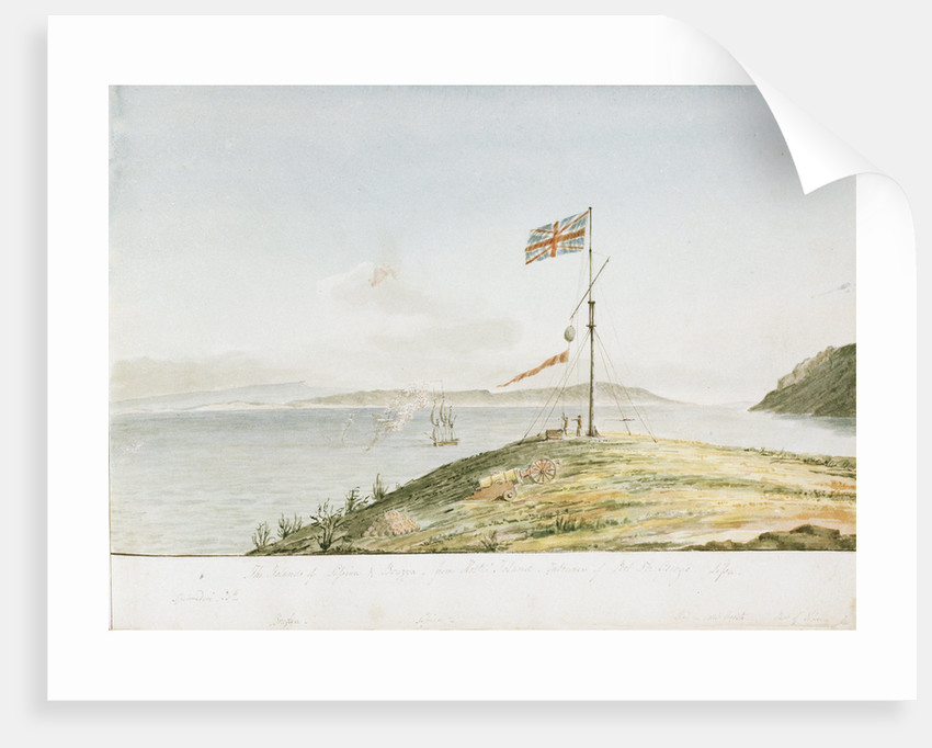 The Islands of Lessina & Brazza - from Hostes Island, Entrance of Port St George, Lissa by William Innes Pocock