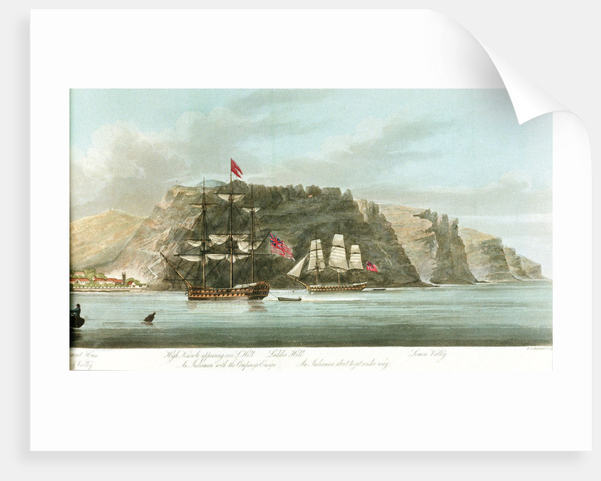 Second half of a panorama, the 'General View of St Helena' by William Innes Pocock