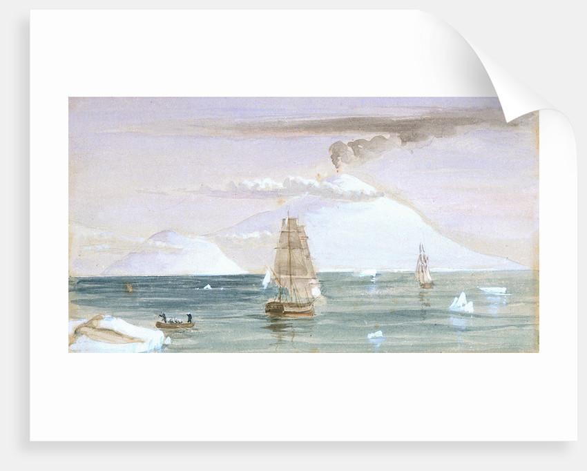 Beaufort Island and Mount Erebus. Discovered 28 January 1841 by J.E. Davis