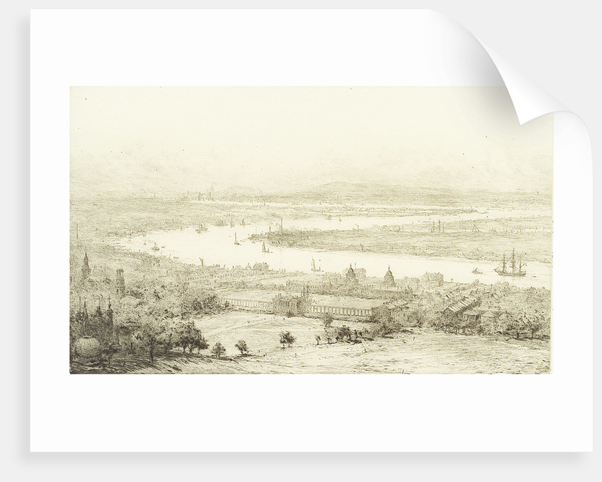 The Thames from Greenwich Park by William Lionel Wyllie