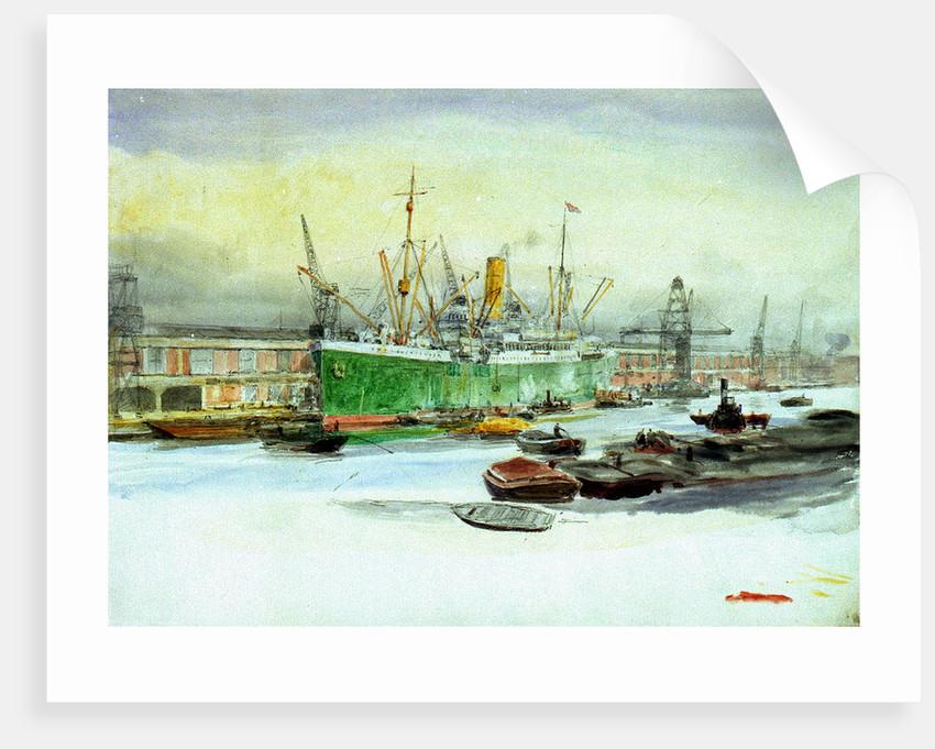 Docks by William Lionel Wyllie