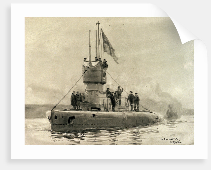 Submarine 'G.13' by William Lionel Wyllie