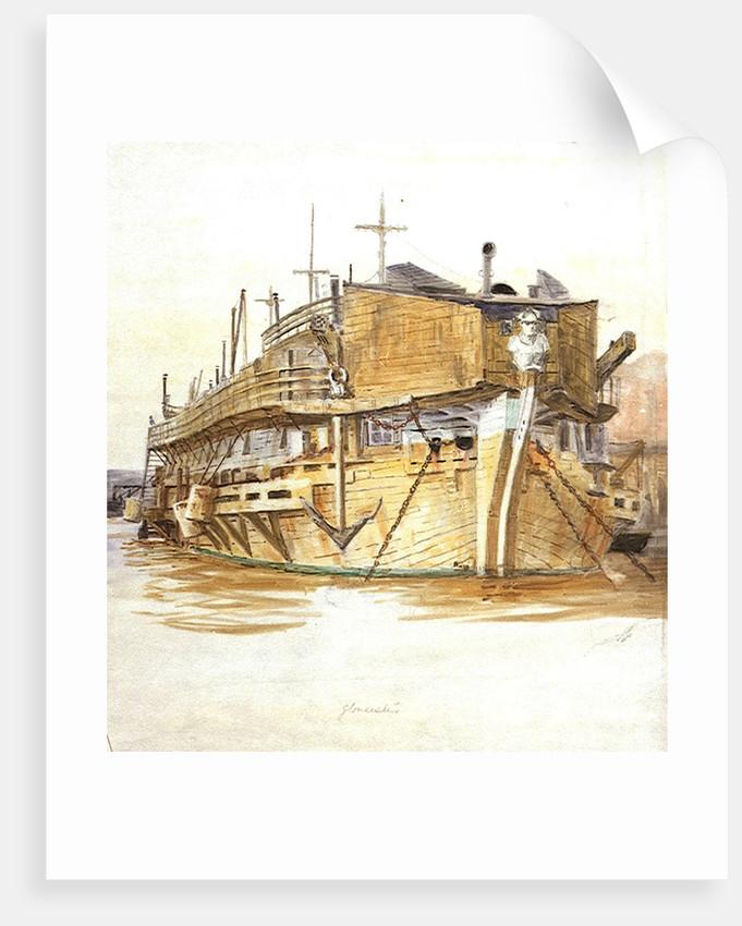 H.M.S. Gloucester by William Lionel Wyllie