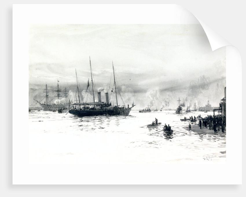 HMY Alberta Entering Portsmouth Harbour by William Lionel Wyllie
