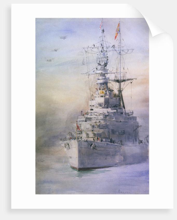 HMS 'Renown' by William Lionel Wyllie