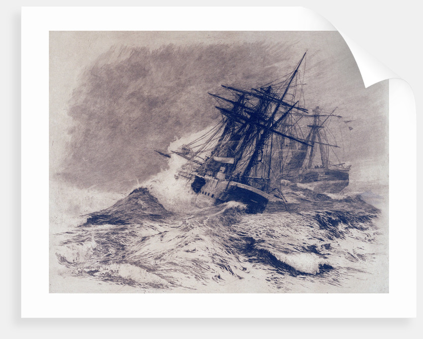 The escape of HMS 'Calliope' by William Lionel Wyllie