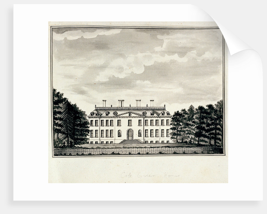 View of Cole Green House, from the west front by John Charnock