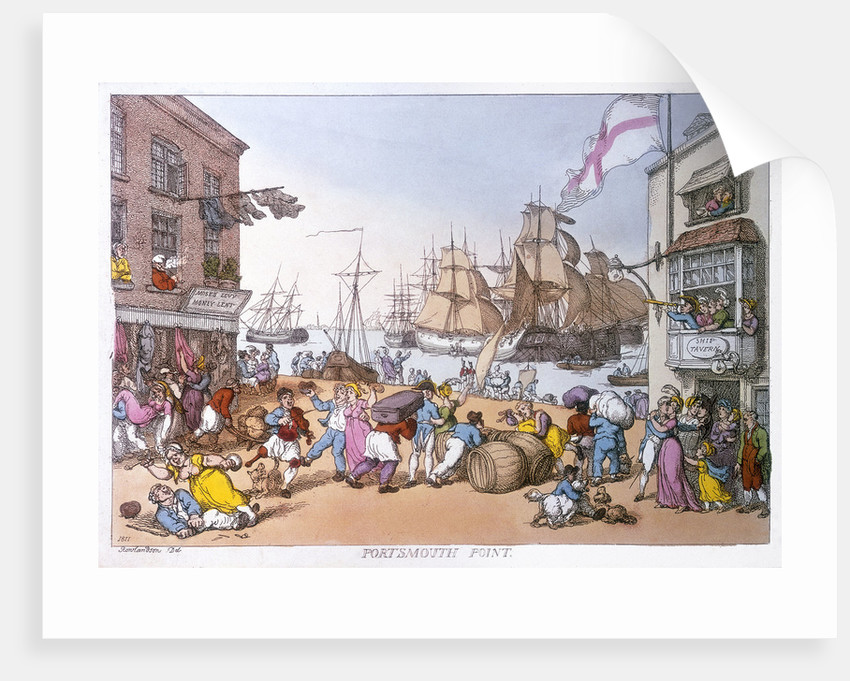 Portsmouth point by Thomas Rowlandson