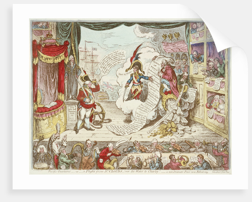 Pacific Overtures - or - a Flight from St Cloud's - over the Water to Charley - a new Dramatic Peace now Rehearsing by James Gillray