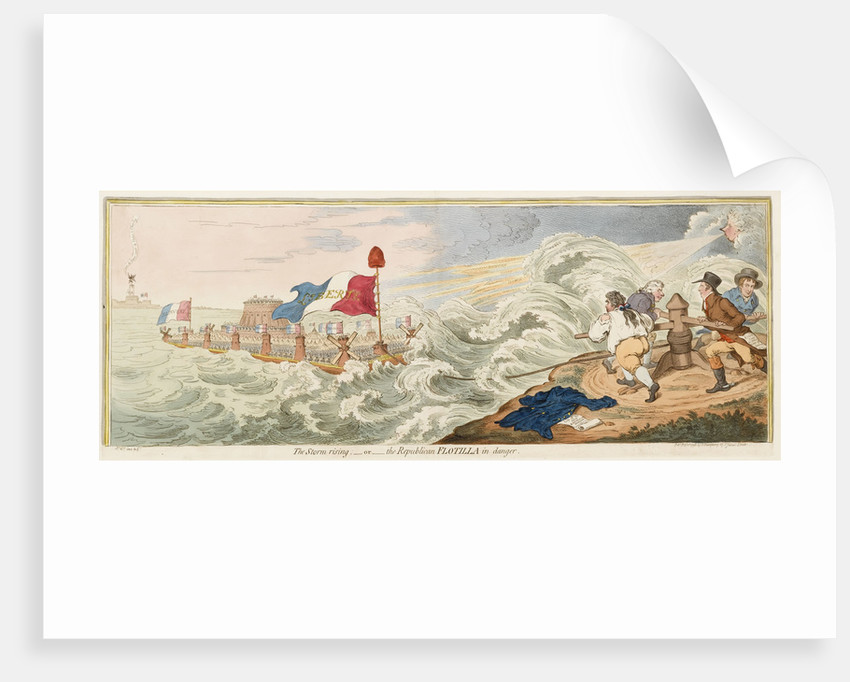 The Storm rising; - or - the Republican Flotilla in danger by James Gillray