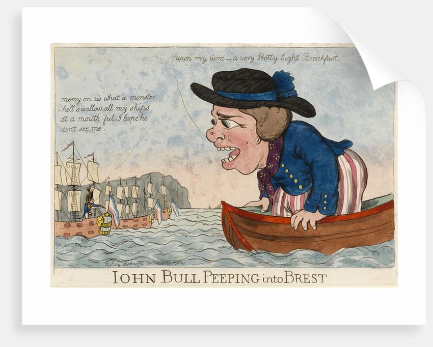 John Bull Peeping into Brest by George Woodward