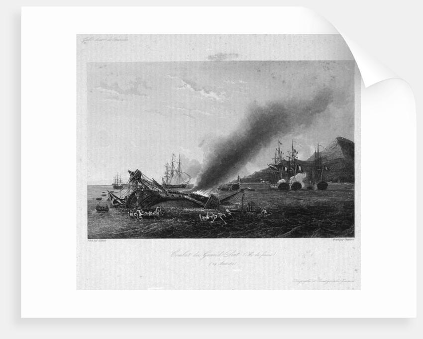 Combat du Grand Port, Ile de France, 24 August 1810. Galrie Histque de Versailles by Chavane