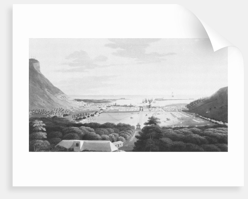 Isle of France No. 4. Port Louis, from the Champ de Mars by R. Temple