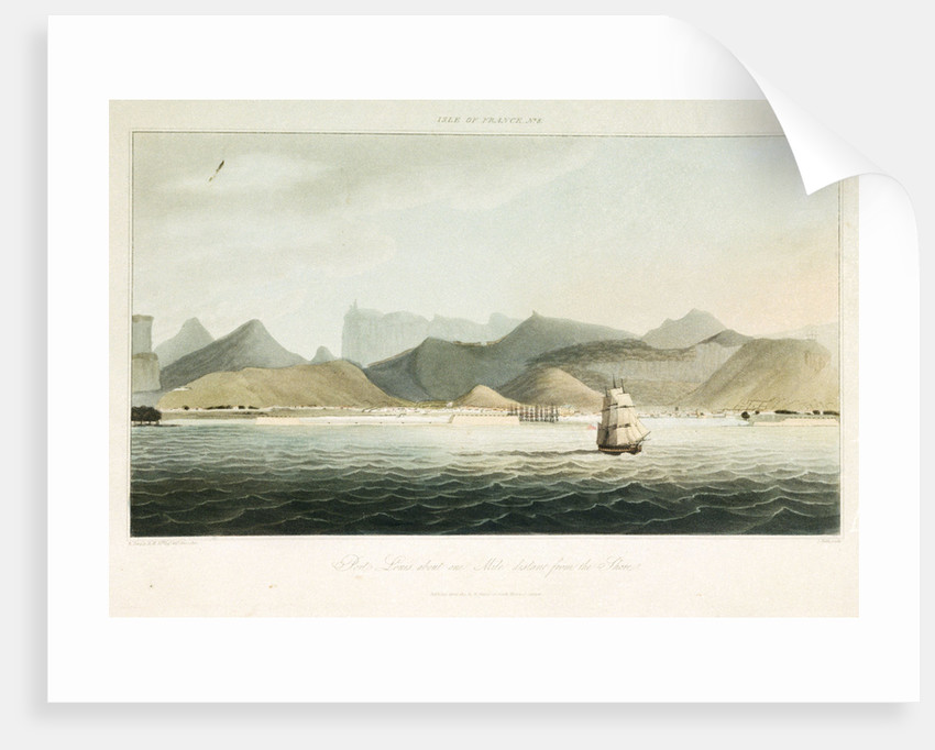 Isle of France No.8: Port Louis, about one mile distant from the shore by R. Temple