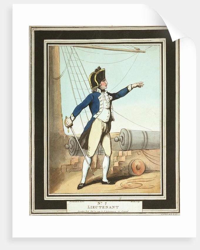 'Lieutenant': no. 7 in series by Thomas Rowlandson