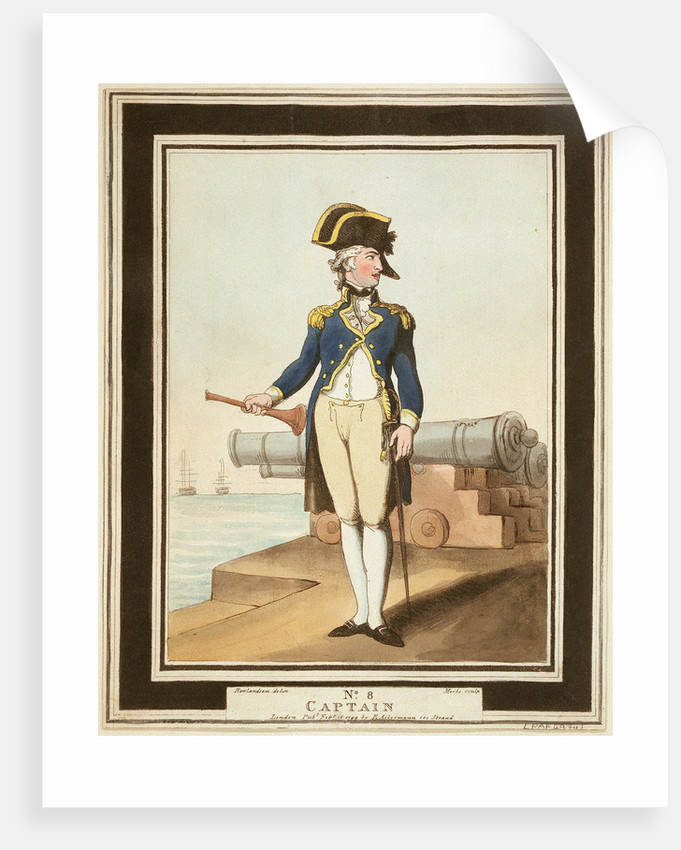 Captain: no. 8 in series by Thomas Rowlandson