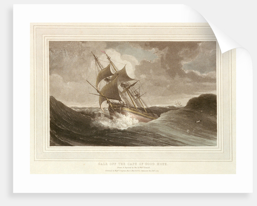 Gale off the Cape of Good Hope by Thomas Daniell