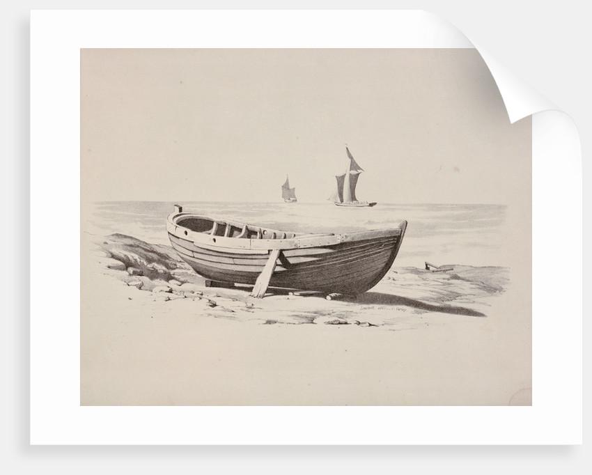 Rowing boat at Lowestoft, 1807 by Cornelius Varley