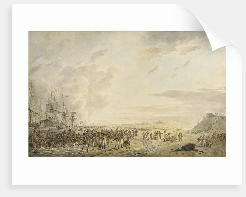 Landing of English troops at Calantsoog, North Holland, 27 August 1799 by Dirk Langendyk