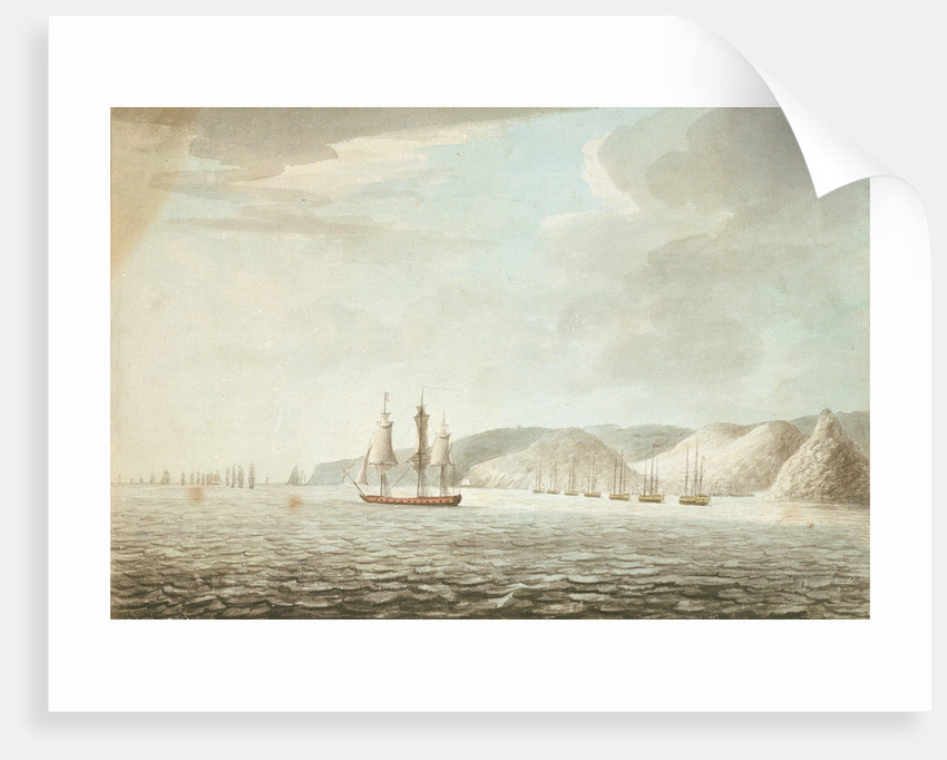 Barrington preparing to receive the French attack on the shipping in the Grand Cul de Sac in St Lucia by Dominic Serres