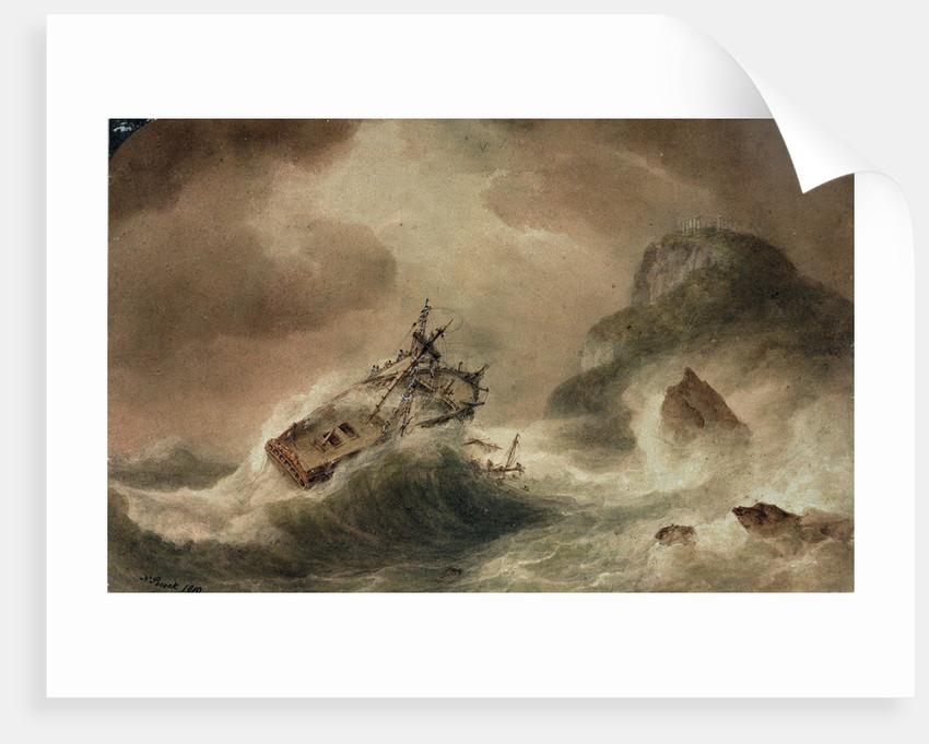 The Wreck of the 'Britannia' by Nicholas Pocock