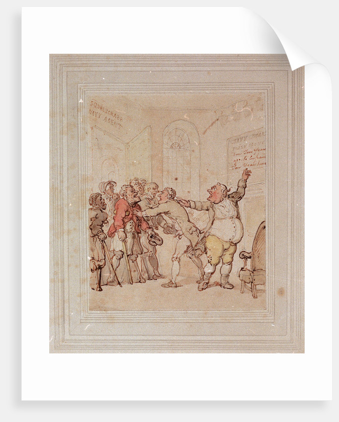 Navy agent refusing to pay prize money by Thomas Rowlandson